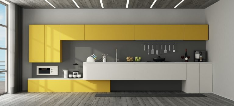 Interior view of a modern kitchen